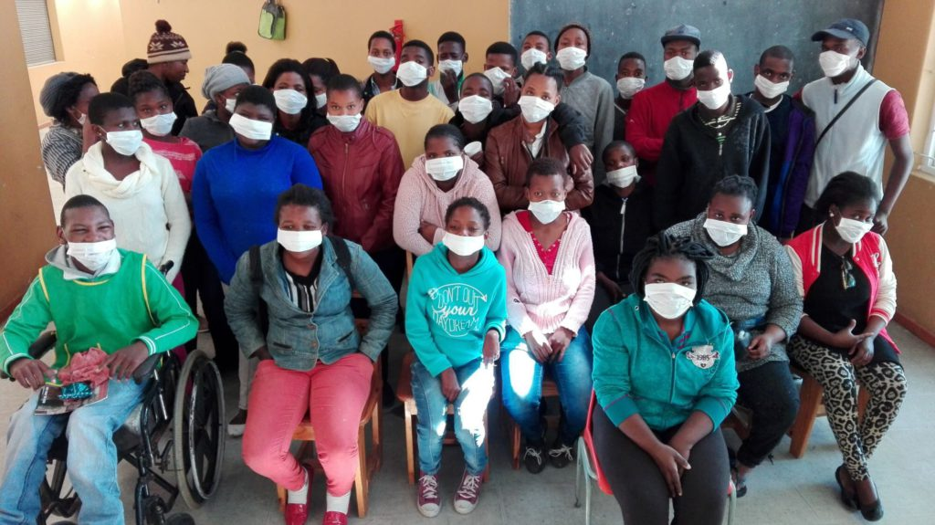 Trainees at Kwanothemba after learning about Tuberculosis